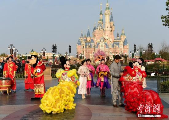 Le Parc Disney de Shanghai. (Photo d'archives / China News Service)