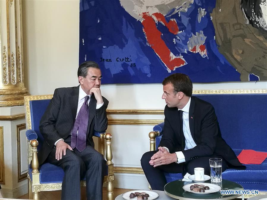Macron souligne le r?le de premier plan du partenariat France-Chine face à une situation internationale compliquée
