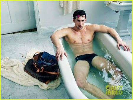 Michael Phelps pose pour Louis Vuitton