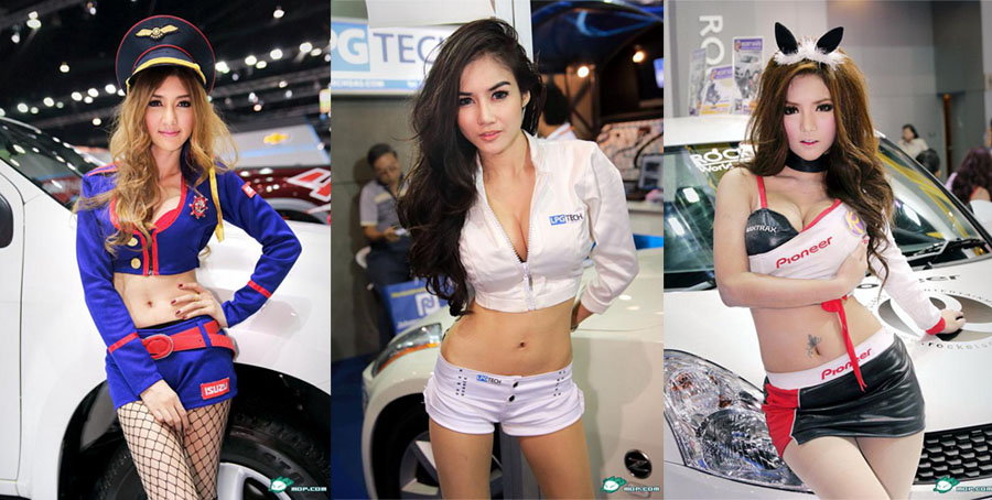 Thaïlande : les hôtesses sexy du Salon international de l'automobile