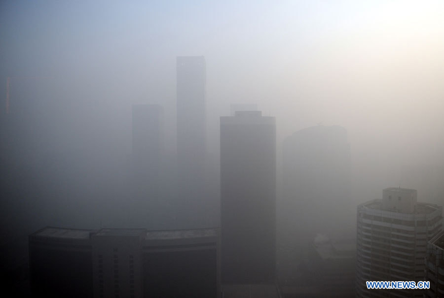 Chine : forte pollution de l'air à Beijing