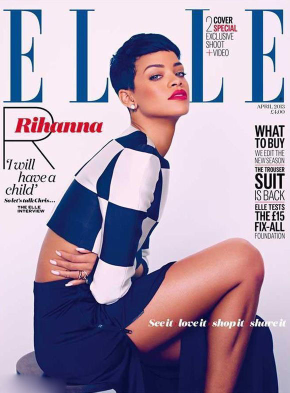 Rihanna en couverture du magazine ELLE UK (7)