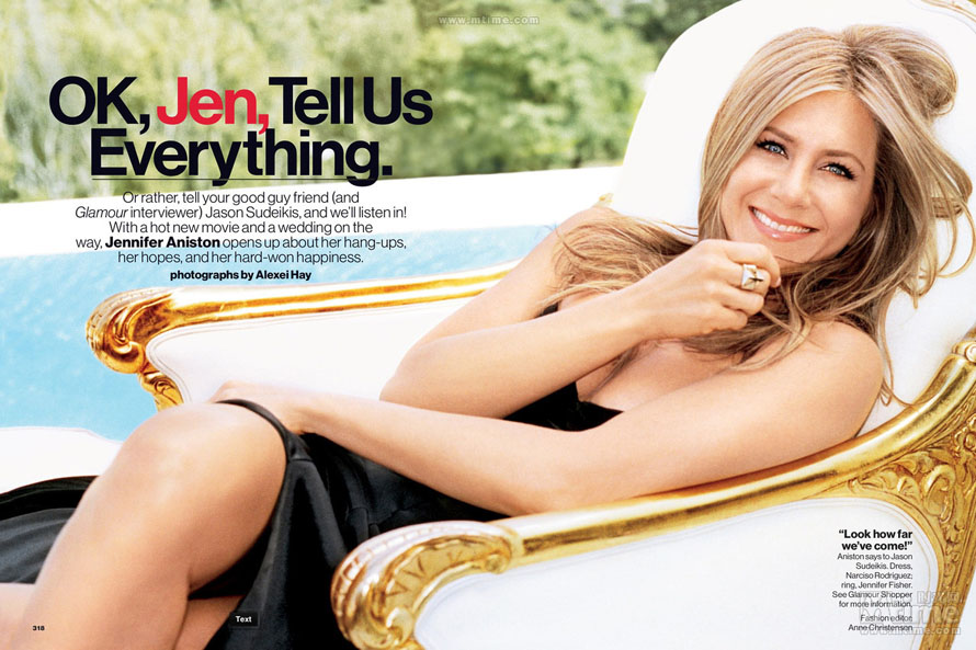 Jennifer Aniston en couverture du magazine Glamour