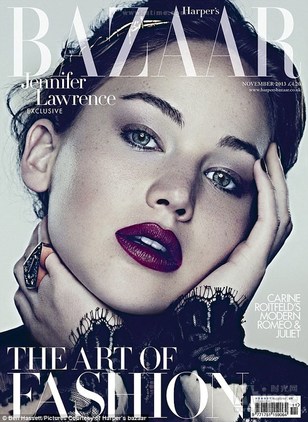 "Jennifer Lawrence, ""The Girl on fire"" pour Harper's Bazaar"