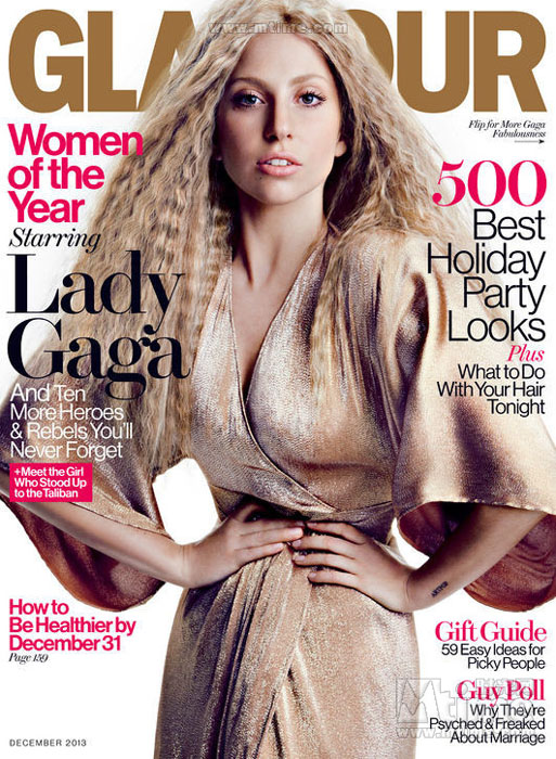 Lady Gaga pose sans artifices pour Glamour